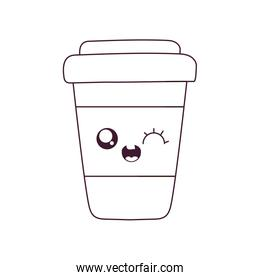Kawaii coffee mug cartoon vector design