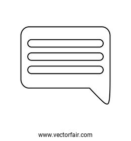 Isolated communication bubble vector design