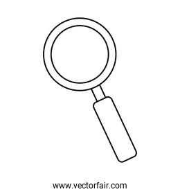 Isolated lupe icon vector design
