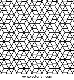 Black and white pattern polygon background vector design