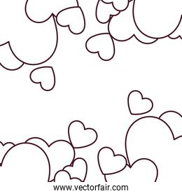Isolated hearts vector design
