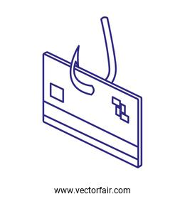 Card and hook of security system vector design