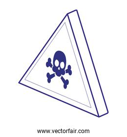 Skull of security system line style icon
