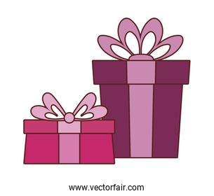 Isolated gifst with bowties vector design