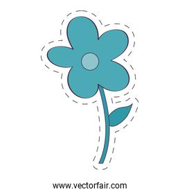 Isolated natural blue flower vector design