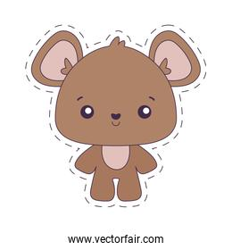 Kawaii bear cartoon vector design