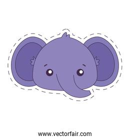 Kawaii elephant cartoon vector design