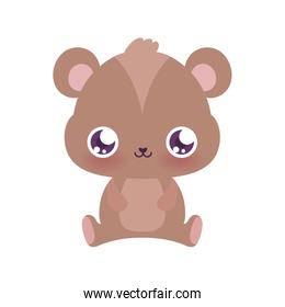 Cute bear cartoon vector design