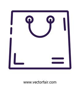 shopping bag paper line style icon