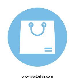 shopping bag paper block style icon