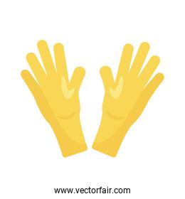 rubber gloves detaild style icon