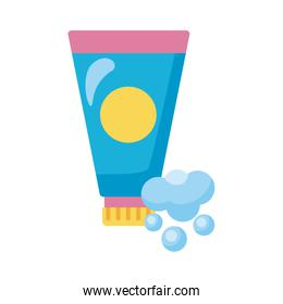 disinfectant plastic bottle product with foam detaild style