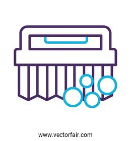 handle brush cleaning line style icon