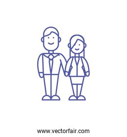 Couple of woman and man vector design
