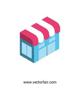 Isolated isometric store vector design