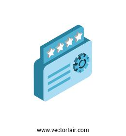 Isolated website code and gear vector design