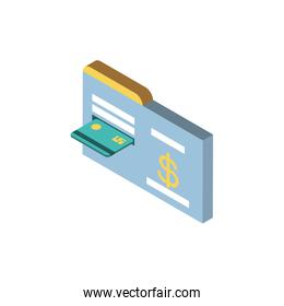 Isolated money credit card and website vector design