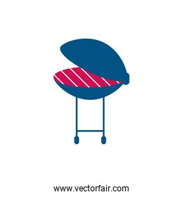 Isolated bbq grill vector design
