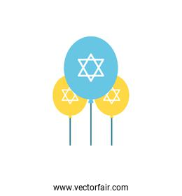 Isolated jewish balloons vector design