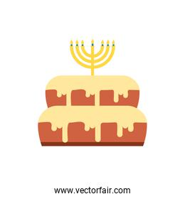Isolated jewish cake vector design