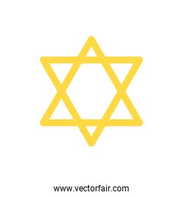 Isolated jewish star vector design