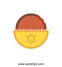 Isolated jewish food vector