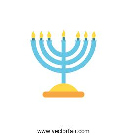 Isolated jewish menorah vector design