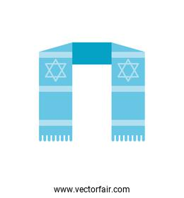 Isolated jewish scarf vector design