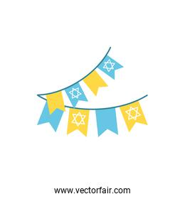 Isolated jewish banner pennant vector design