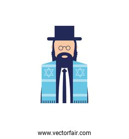 Isolated jewish man vector design
