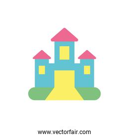 Isolated castle toy vector design