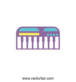 Isolated piano toy vector design