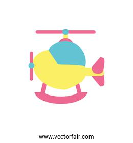 Isolated helicopter toy vector design