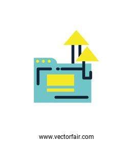 Isolated file and arrows vector design