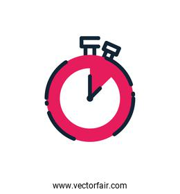 Isolated chronometer pink instrument vector design