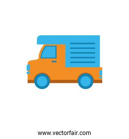Isolated delivery truck vector design