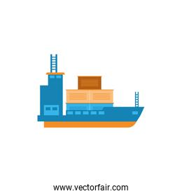 Isolated delivery ship vector design