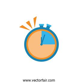 yellow and blue chronometer instrument vector design