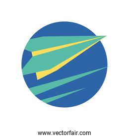 Isolated origami paperplane vector design