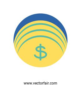 Isolated coin icon vector design