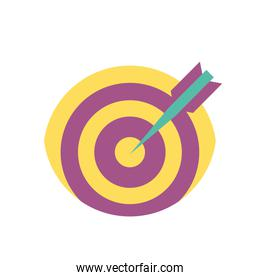 Isolated target icon vector design