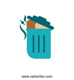 Isolated industrial trash vector design