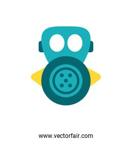Isolated gas mask vector design