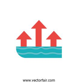 Isolated sea and arrows vector design