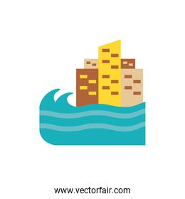 Isolated sea and city vector design