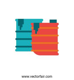 Isolated industrial trashes vector design