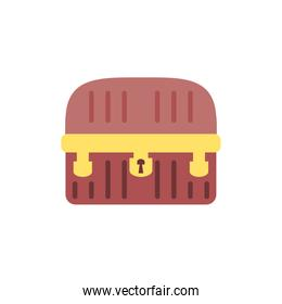 Isolated treasure chest vector design