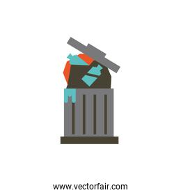 Isolated plastic bottles and trash vector design