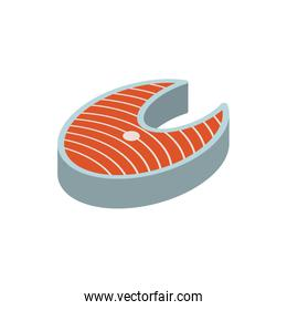 Isolated fish food vector design