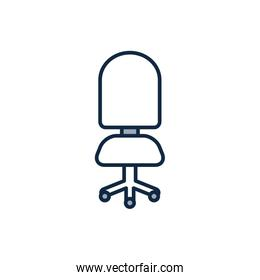 Isolated office chair half line half color style icon vector design
